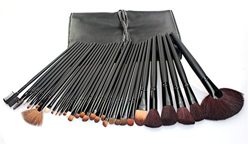 RoseFlower® Professionnel 32 Pcs Pinceaux Maquillage Trousse - Pro Make Up Cosmétique Brosse / Brushes Kit Pour Visage Blending Fondation Blush Eyeliner Poudre