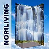 Original NORILIVING Eck-Duschrückwand -Wasserfall oder Ihr Wunschmotiv, fugenlos, kostenloser Zuschnitt auf Ihre Wunschmaße, Rückwand, Bad-Verkleidung, Wandbild, Dekor, Alu-Verbundplatte, Fliesenersatz, schimmelfrei… (Aluminium, 90 x 200 x 0,3 cm), jegliche Größen möglich (Wasserfall_ID4031490)