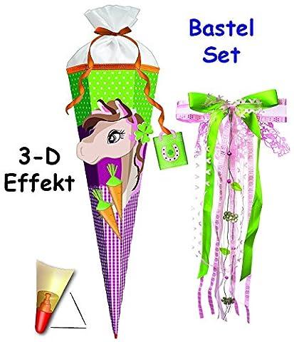 3-D Effekt _ BASTELSET Schultüte -