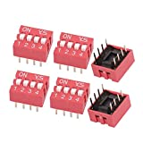 sourcingmap® 6 Pcs DIP Switch 2 Row 8 Terminals 6 Positions Sliding Switch 2.54mm Pitch