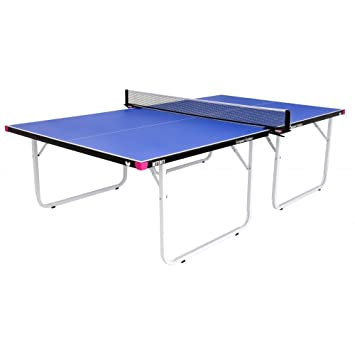 Butterfly Unisex Compact Outdoor 10 Wheelaway Tennis Table, Blue, One Size