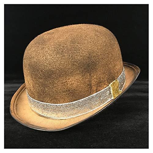 Wenquan-caps, 2019 Neue Hüte Steampunk Dome Hat Frau Männer Rolle Brille Zylinder Hut Kopfbedeckung Hut Hut (Farbe : Gold SZ, Größe : 57-58 cm)