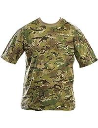 89e0d755 Zip Zap Zooom Mens Army Combat Military British US BTP Camo T-Shirt  Camouflage Surplus