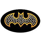 Aufnäher/Bügelbild - Batman Logo Comic Kinder - schwarz - 9,2 x 5,5 cm - by catch-the-patch® Patch Aufbügler Applikationen zum aufbügeln Applikation Patches Flicken