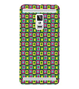 PrintVisa Square Angular Pattern 3D Hard Polycarbonate Designer Back Case Cover for vivo X3S