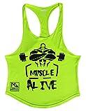 Musclealive Herren Bodybuilding Tank Tops Hemden Baumwolle Fitness Stringer Sport Shirts Achselshirts