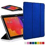 ForeFront Cases® Neue Leder Hülle / Tasche / Case / Cover für Samsung Galaxy Tab PRO 10.1 T520 - Rundum-Geräteschutz und intelligente Auto-Sleep-Wake-Funktion mit 3-JAHRES-GARANTIE VON FOREFRONT CASES