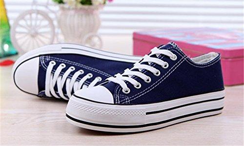 Sneakers Da Basse Scarpe Ginnastica Tela Blu Wealsex Donna dAqwcRXd