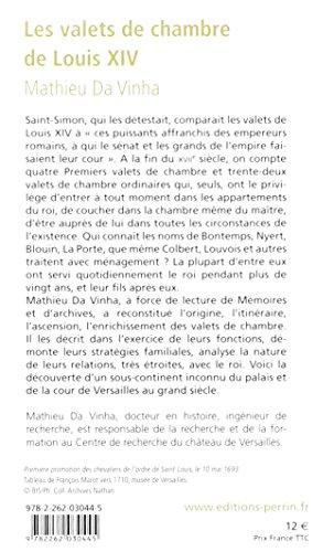 Book's Cover of Les valets de chambre de Louis XIV