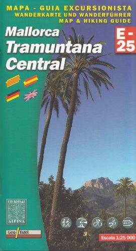 Majorque Tramuntana - Central 1:25.000 randonne topographique et le cyclisme map & guide (Balares, Espagne)
