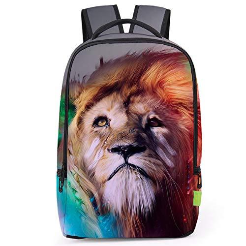 3d Lion Head Print Children es School Rucksack ()