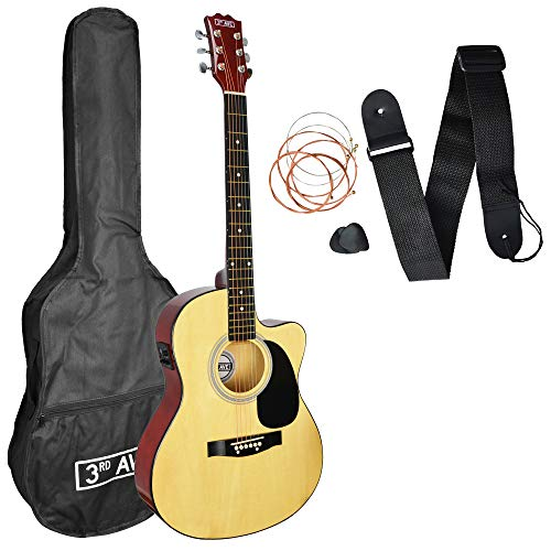 3rd Avenue Cutaway Electro Acoustic Guitar Beginner Pack - Natural