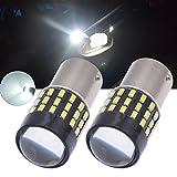 TUINCYN - Bombilla LED superblanca de 650 lúmenes 1156 BA15S SMD 54 3014 1141 7506 1095, para luces de marcha atrás, luces de freno, faros traseros, intermitentes, de 12 a 24 V de CC, 3,1 W (2 unidades)