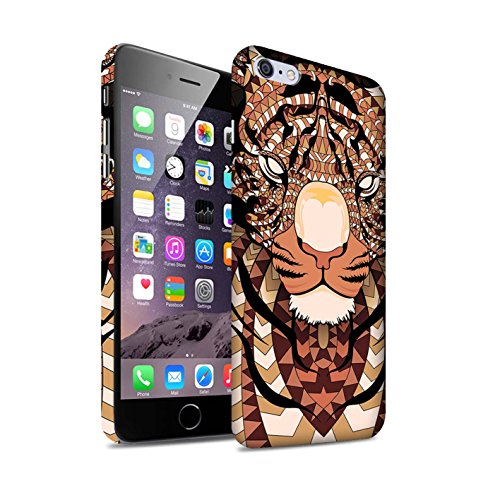 STUFF4 Matte Snap-On Hülle / Case für Apple iPhone 7 Plus / Elefant-Farbe Muster / Aztec Tier Muster Kollektion Tiger-Orange