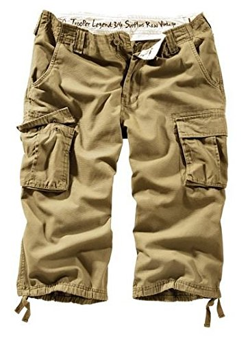 Surplus Trooper Legend Herren 3/4 Shorts Beige