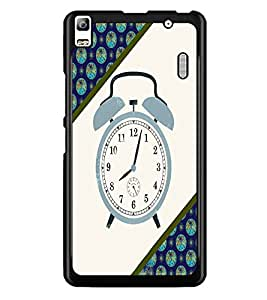 PrintDhaba Alarm Watch D-4268 Back Case Cover for LENOVO K3 NOTE (Multi-Coloured)