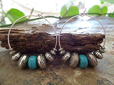 ? NOUVELLES CREOLS TRIBAL TRIBAL TRIBAL DE BOHO ear Boucles d'oreilles de style Bali