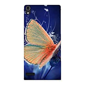 Special Yellow Thin Butterfly Back Case Cover for Ascend P6