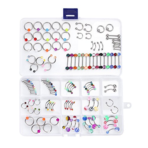BodyJ4You 120PC Body Piercing Je...
