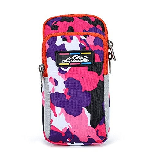 Zhudj mobile phone set _ braccio corsa tipo braccio mobile phone bag borsa legato braccio braccio manica camouflage braccio, Camouflage blue powder purple, small