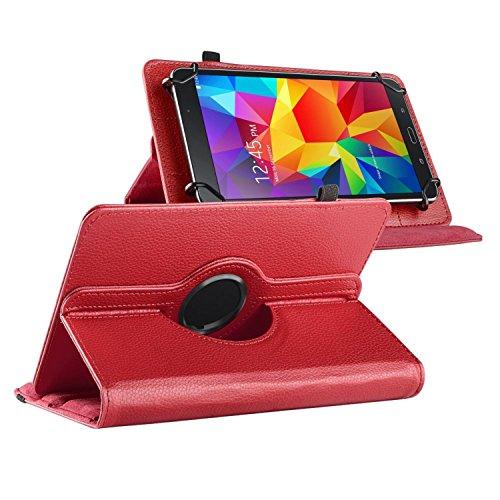ChannelExpert Rot Folio 360° PU Ledertasche Schutztasche Schutzhülle Stand Cover für Samsung Galaxy Tab 7