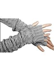 Punto de giro hueco moda decorativa media manga fingerless guantes , 1