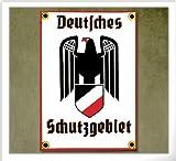 Emailleschild Deutsches Schutzgebiet 12 x 17 cm