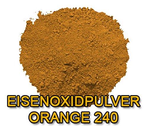 Eisenoxid Pulver Pigmentpulver Farbpigmente für Beton Lehm Keramik | Betonfarbe Bodenfarbe färben abtönen Abtönung - Orange 5KG