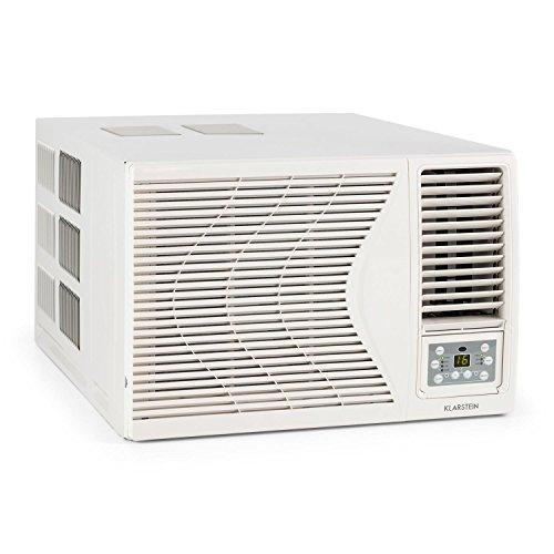 Klarstein Frostik • Fenster-Klimaanlage • Klimagerät • EEK A • 4-stufiger Ventilator • 9000 BTU • 2,7 kW Kühlleistung • 3 Betriebsmodi • 16 bis 30 °C • Fernbedienung • Trocknungsmodus • Schlafmodus • Timer • integrierter Luftfilter • LCD-Display • weiß