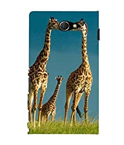 printtech Giraffe Africa Jungle Back Case Cover for Sony Xperia M2 Dual D2302::Sony Xperia M2