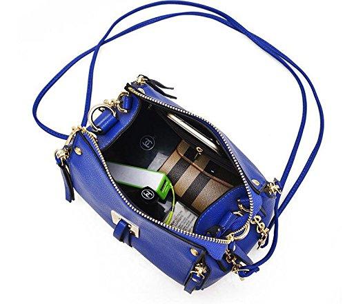 Trends für einfache Damen Schultertasche Handtasche Umhängetasche Blue