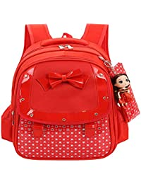 Mochila para niños Arco Lindo Mochila para niños Dulce Princesa Doll Bolsa Impermeable para niños con
