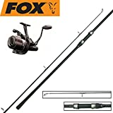 Fox Karpfenset - Warrior S Karpfenrute 12ft 2,75lbs + EOS 10000 Rolle, Freilaufrolle, Karpfenset, Angelset fürs Karpfenangeln, Karpfenrolle, Karpfenangeln