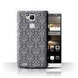 Stuff4 Hülle / Case für Huawei Ascend Mate7 / Damast-Grau