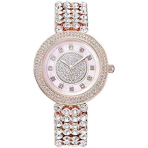 Donna romana diamante dial ladies watch moda orologio , rose gold