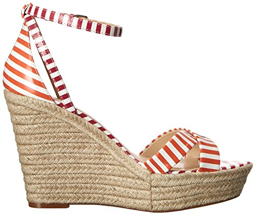 Nine West Joker synthétique Wedge Sandal White/Orange/White/Dark Pink