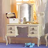 The Dolls House Emporium French-style Cream Dressing Table