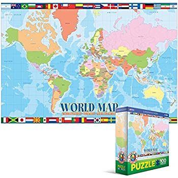 Eurographics world map mo puzzle 100 pieces amazon toys eurographics world map mo puzzle 100 pieces gumiabroncs Choice Image