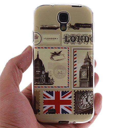 Samsung Galaxy S4 hülle MCHSHOP Ultra Slim Skin Gel TPU hülle weiche Silicone Silikon Schutzhülle Case für Samsung Galaxy S4 I9500 - 1 Kostenlose Stylus (Löwenzahn sich verlieben (Dandelions Fall in L Briefpapier und Umschläge Stempel (Letter Paper and En