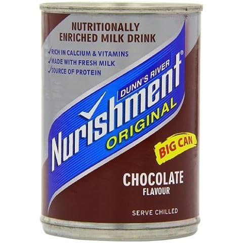 Nurishment chocolate Sabor bebida de leche 400 g (paquete de 12)