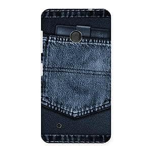 Impressive Navy Jeans Pocket Back Case Cover for Lumia 530