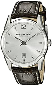 HAMILTON MEN'S JAZZMASTER SERIES 40MM LEATHER BAND AUTOMATIC WATCH H38515555
