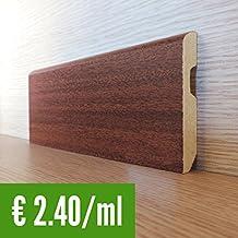 Zócalo MDF efecto madera Jatoba Espelta–Barra de 2,25m