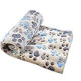 Cdet Alfombra manta para mascotas otoño e invierno manta cálida terciopelo de coral...