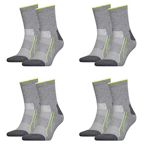 Puma Unisex Socken Performance Train 4er Pack, Größe:43-46, Farbe:Grey Melange (032)