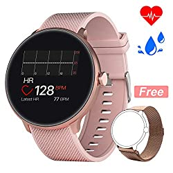 Bebinca Uhr Voller Touchscreen Fitness Uhr IP67 Wasserdicht Fitness Tracker Sportuhr mit Schrittzähler Pulsuhren Stoppuhr für iOS Android