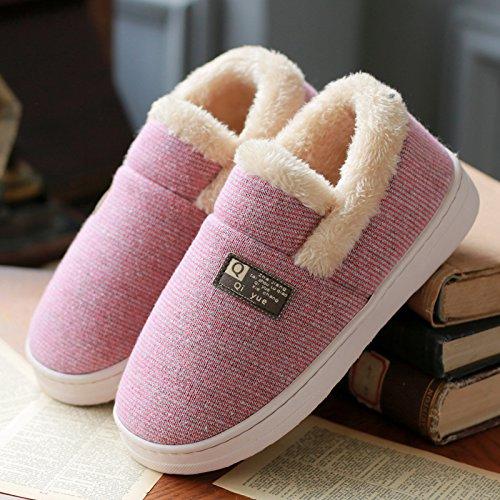 DogHaccd pantofole,Paio di pantofole di cotone uomini e donne inverno Indoor full-pacchetto con un caldo soggiorno domestico con una spessa, antiscivolo eleganti scarpe di cotone Il rosso4