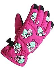 Eastlion 2-5 Years Old Mushrooms Pattern Children Skiing Gloves Cartoon Outdoor Warm Gloves