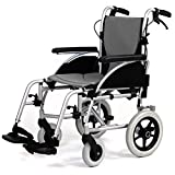 Lightweight Transit Wheelchair with Removable Memory Foam Seat and Back