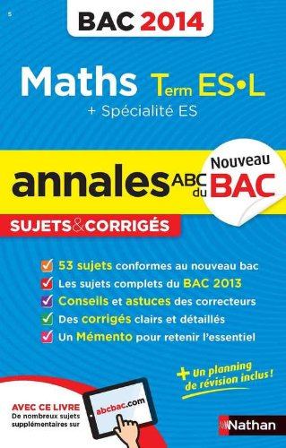 ANNALES BAC 2014 MATHS TERM ES